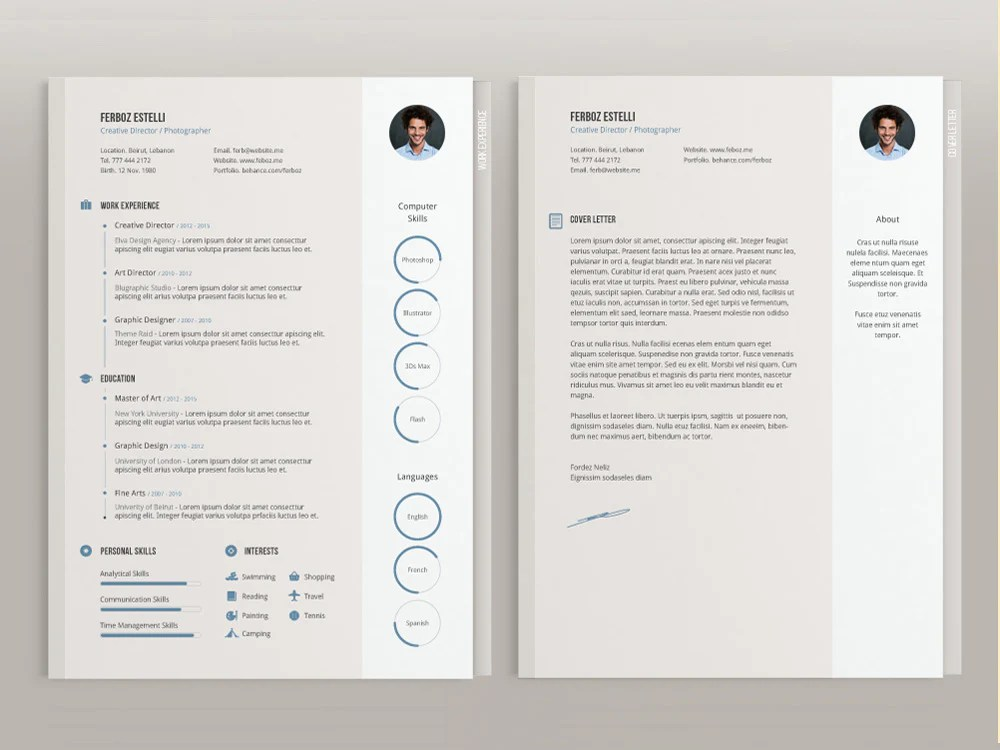 cv cover letter template illustrator