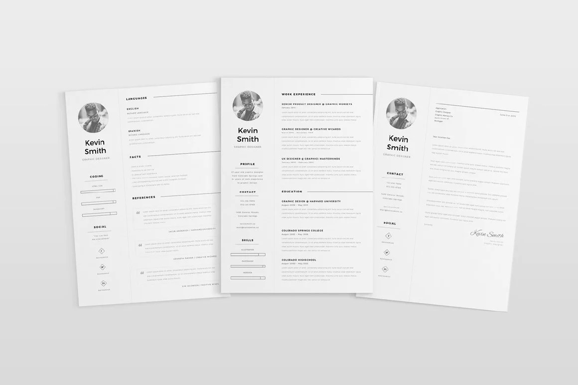 Condensed Resume Template Free Clean And Minimal Resume Template Creativebooster