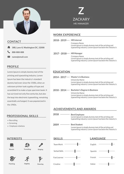 free creative hr resume templates