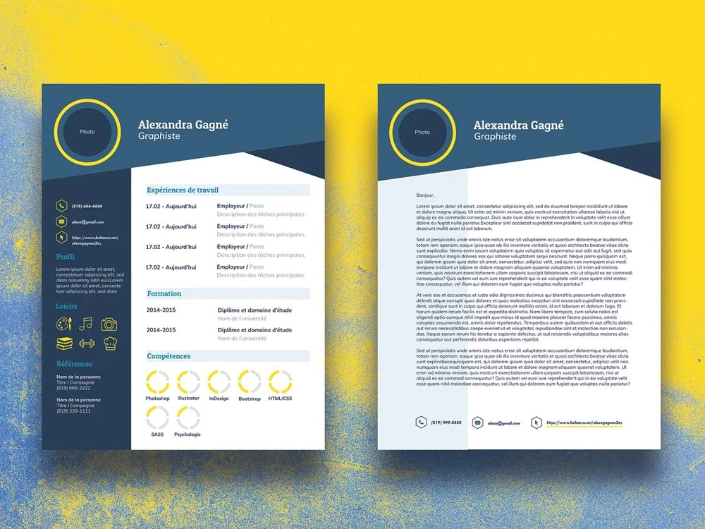 Free Infographic CV Resume Template With Cover Letter In Illustrator CreativeBooster