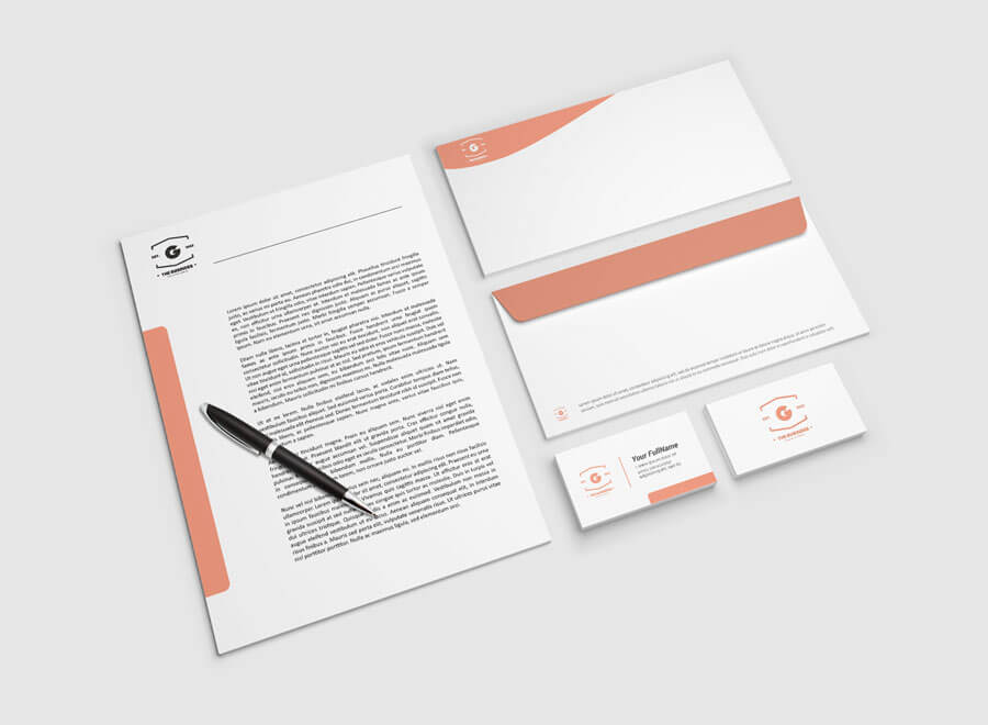 **stationery mockup ** is suitable to showcase your design with this fresh looking mockup. Free Clean Letterhead Mockup Creativebooster