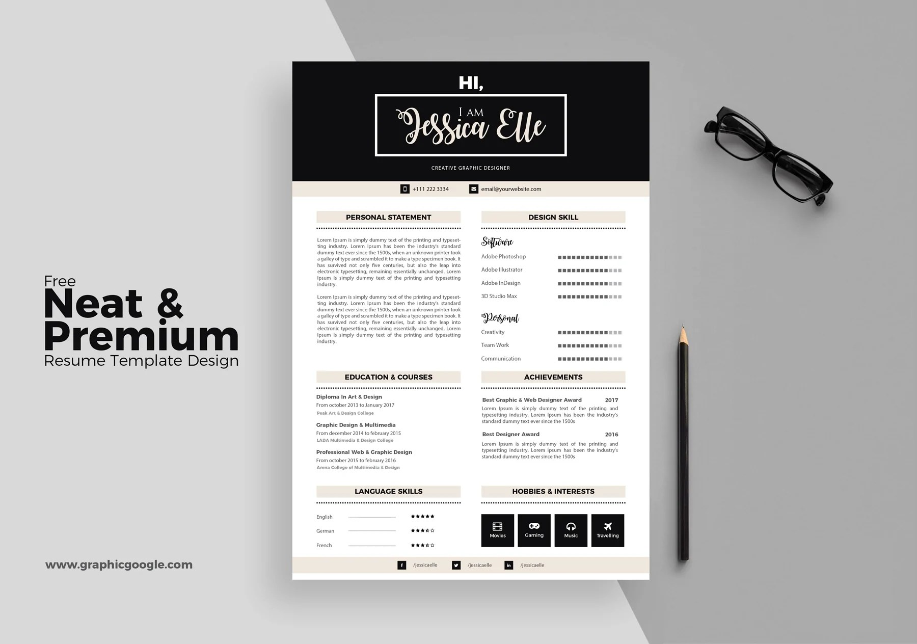 text resume template 40 beautiful free resume templates