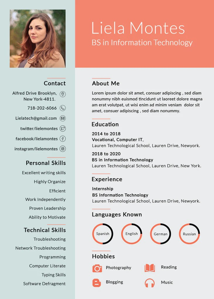 free resume templates in