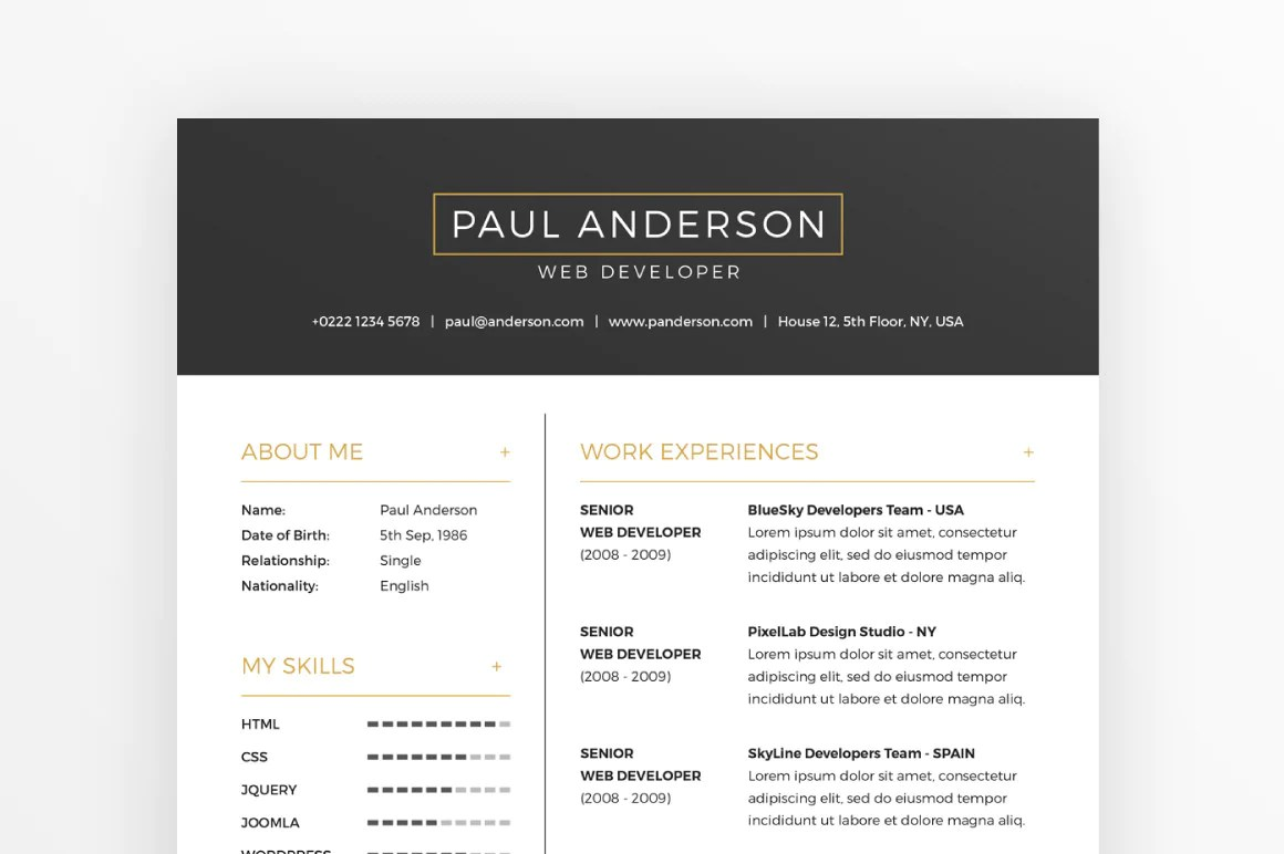 Free Resume Download Template Free Resume Cover Letter Template Creativebooster