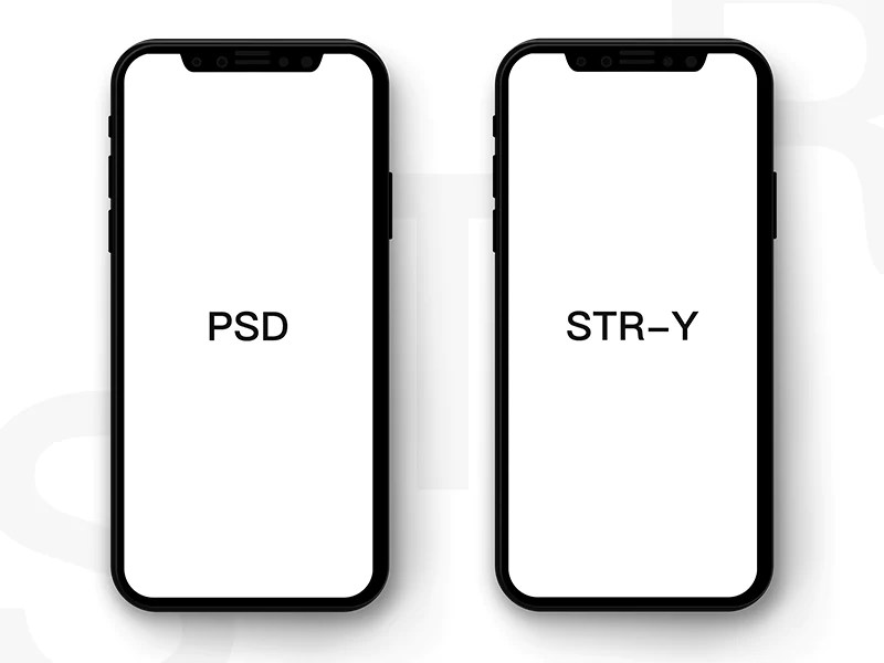 Free Black And Clean IPhone X Mockup CreativeBooster
