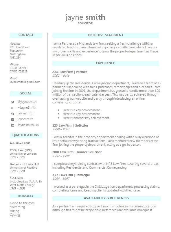 professional cv format free download