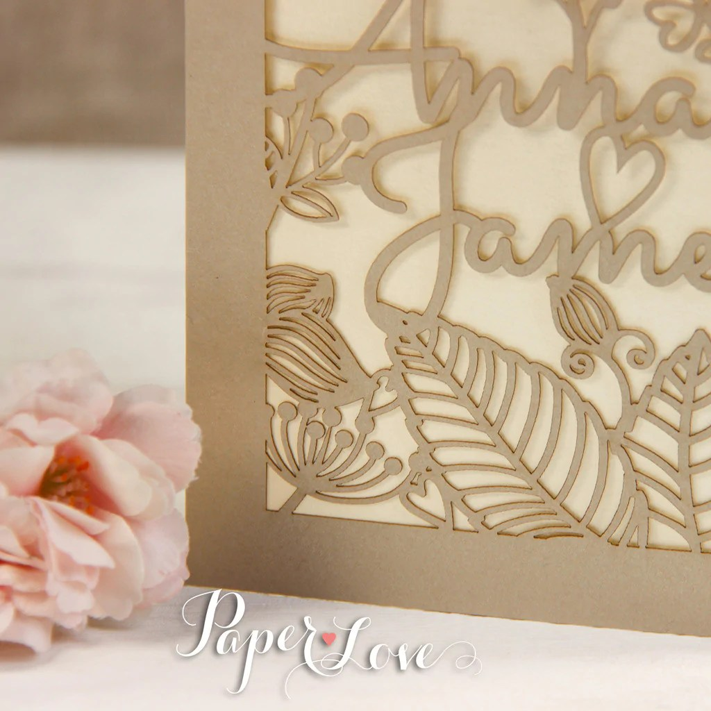 Pearlescent Flower And Names Laser Cut Personalised
