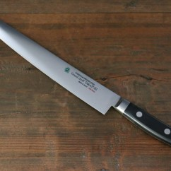 Swedish Kitchen Knives White Wood Table Sakai Takayuki Grand Chef Steel 39extra Narrow