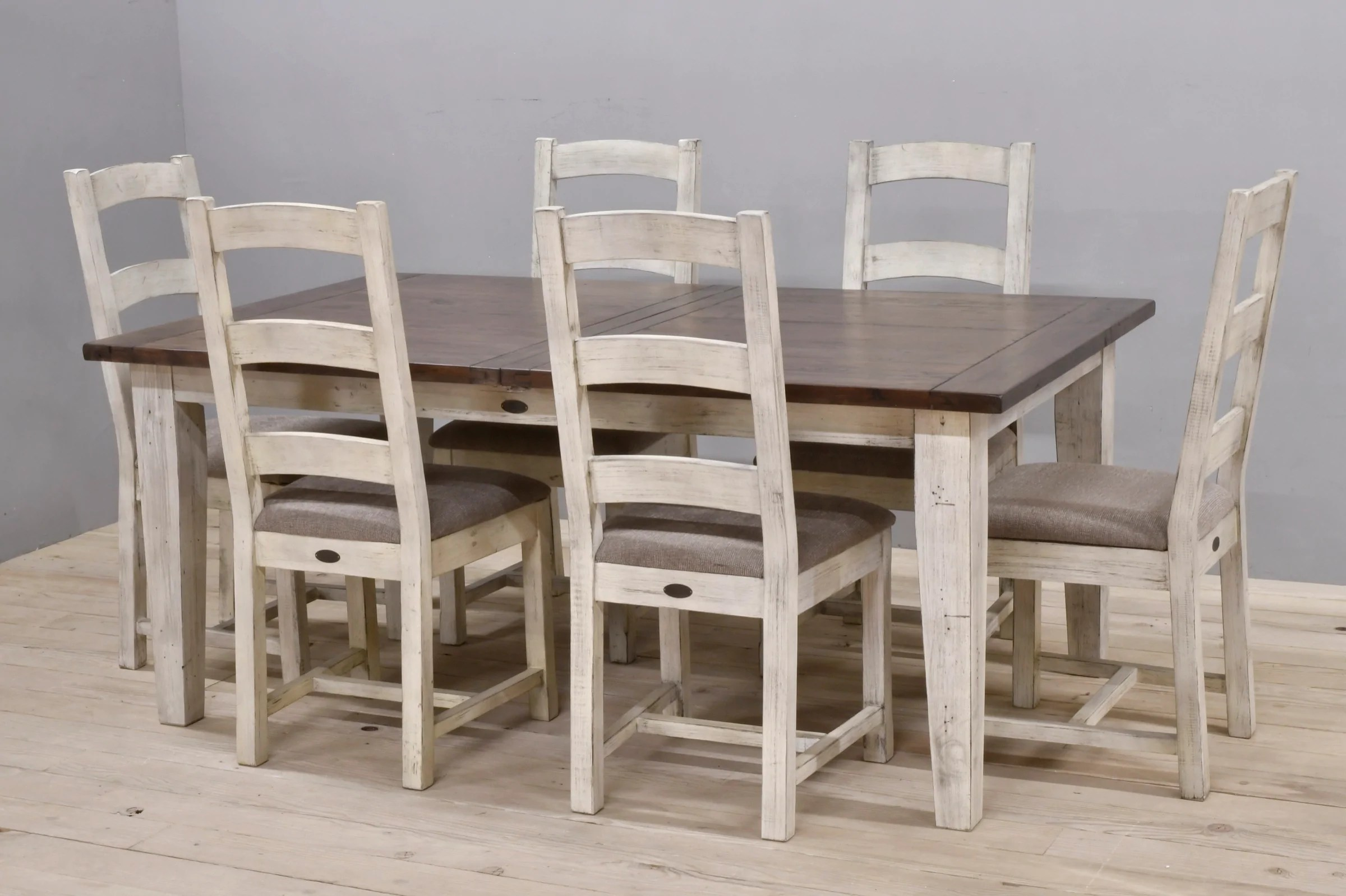 Farm Chairs Large Butterfly Extension Farm Table With 6 Chairs Coffee