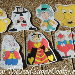Zip Dee Chairs Vintage Wrought Iron Table And Diy Alice In Wonderland Photo Booth Props- Idea For Your Own Party — The Iced Sugar Cookie