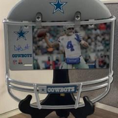 Cowboys Football Helmet Chair Acrylic Office Combo Dallas Frame Dak Prescott Metal Photo