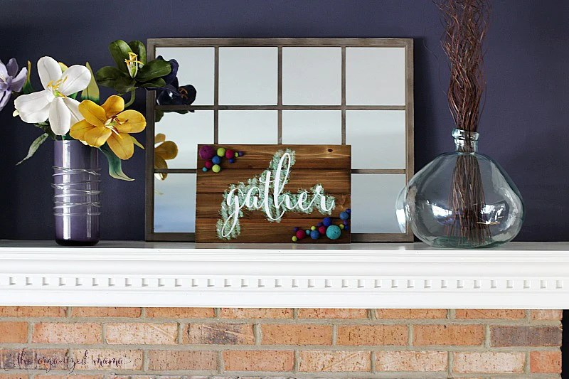 DIY Gather Sign with Glitter