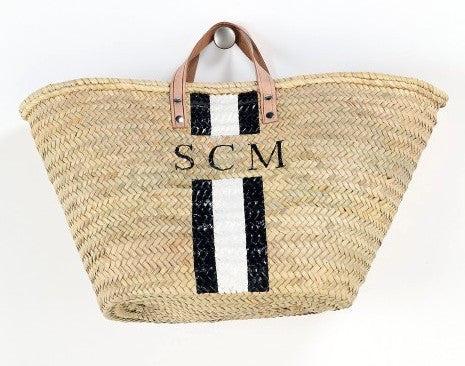 personalized straw beach bag