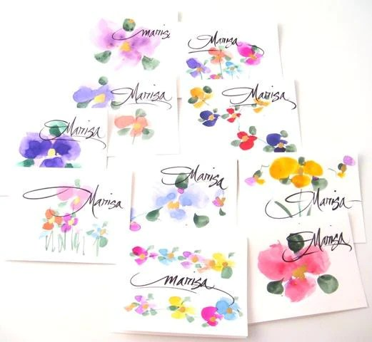 personalized hand painted stationery