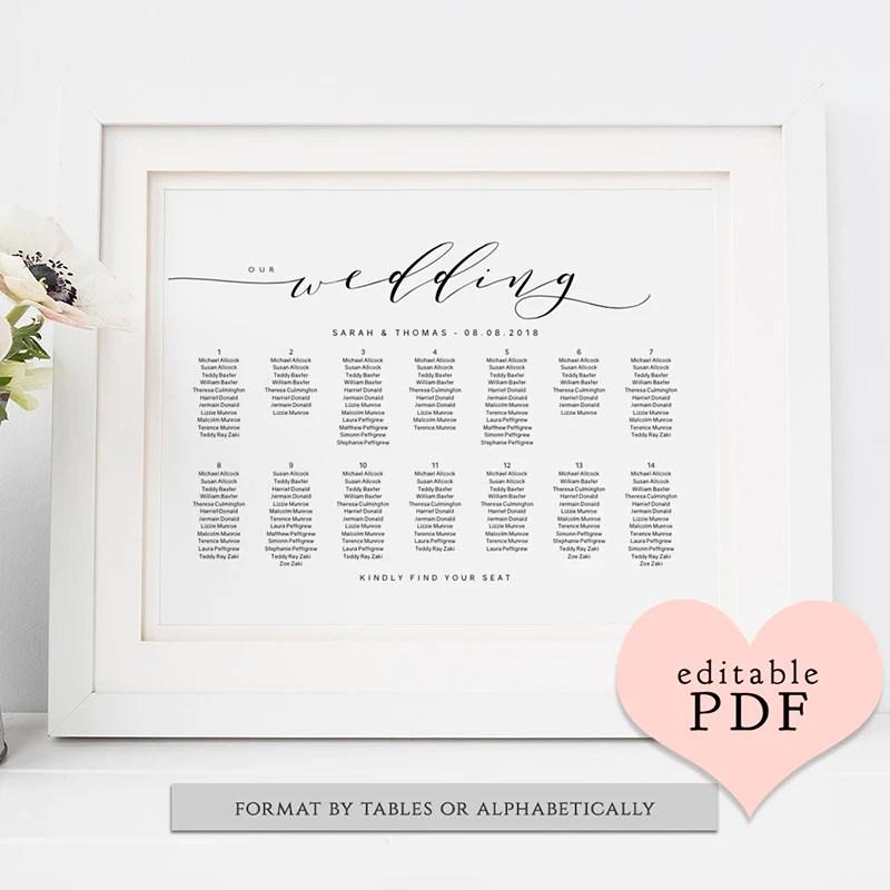 Diy wedding table seating chart printable also plan template connie  joan rh connieandjoan