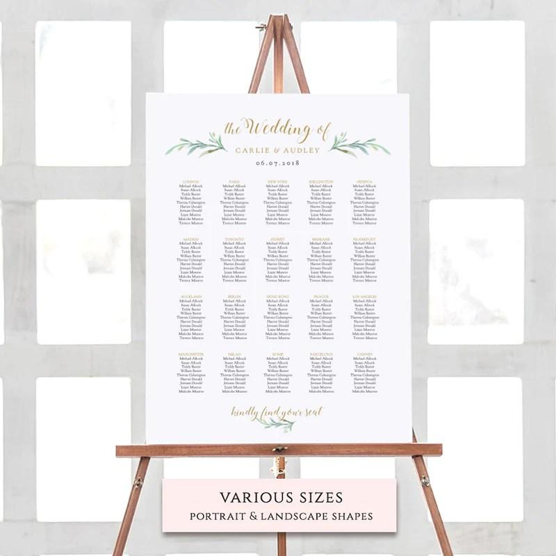 Wedding seating chart printable template also diy table plan connie  joan rh connieandjoan