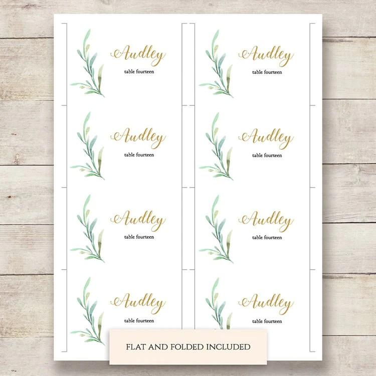 greenery wedding table name