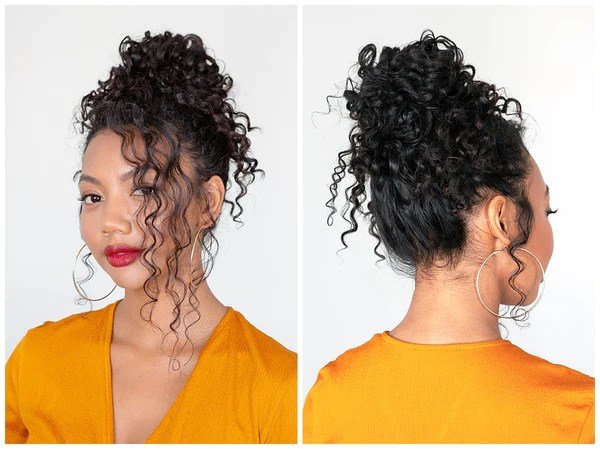 How To A Work To Play Updo For Naturally Curly Hair Ouai