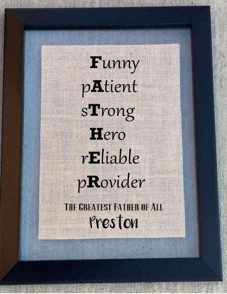 Burlap Father Sign Knot And Nest Designs