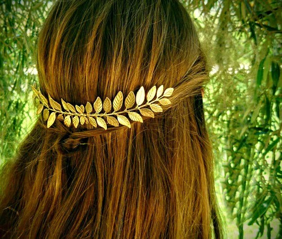 Hair Laurel Leaf Comb Leaves Gold