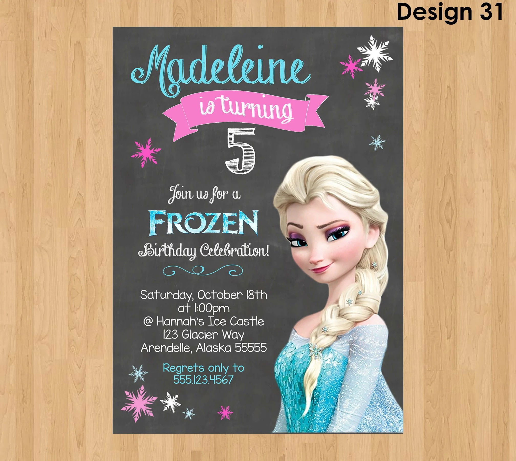 elsa invitation frozen chalkboard invitation frozen invitation frozen party invitation frozen birthday invite elsa birthday invitation