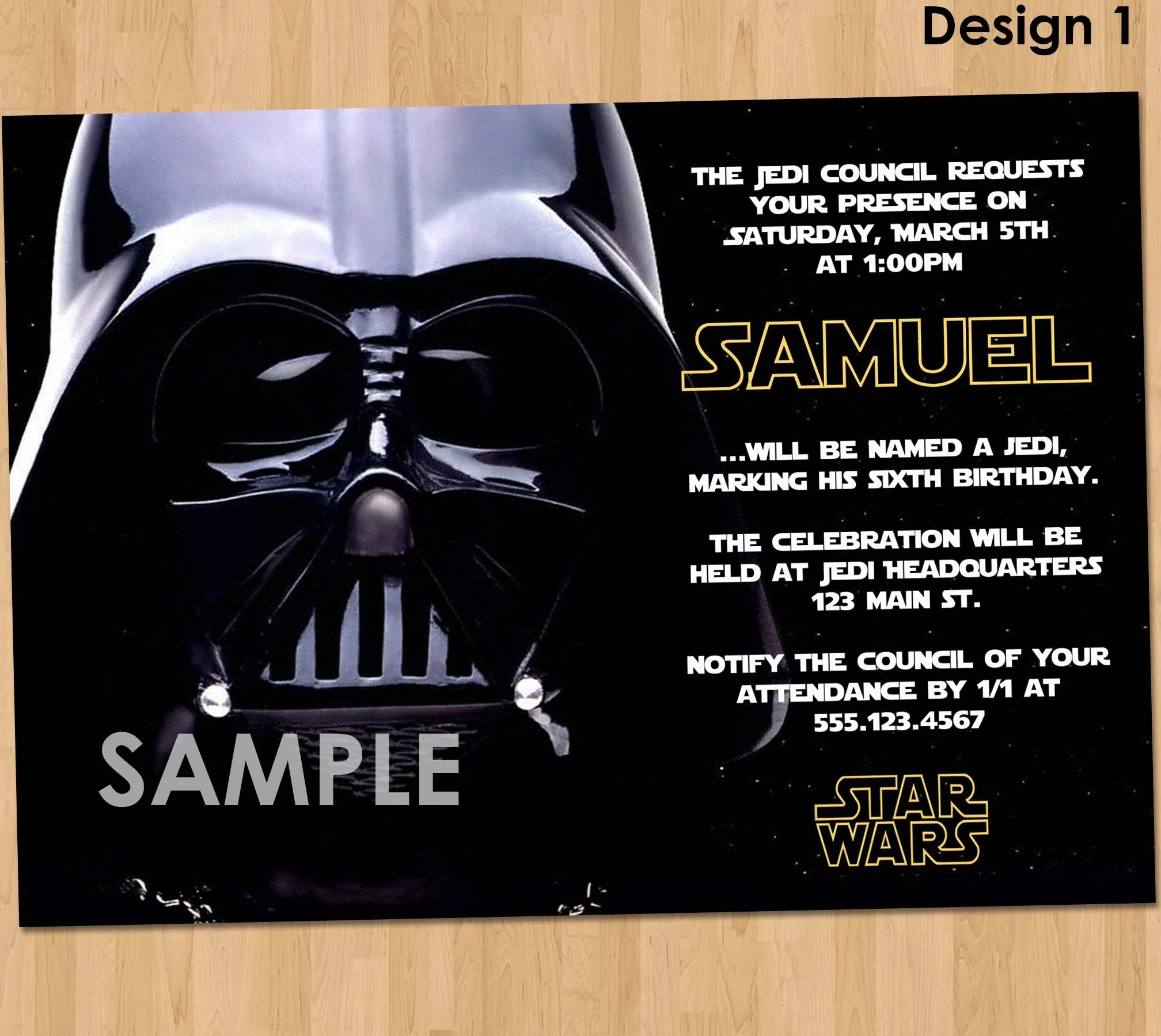 star wars party invitation star wars party printable star wars invitation star wars birthday party darth vader birthday party