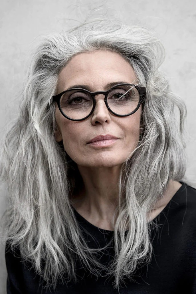 glasses grey hair 40 spectacular
