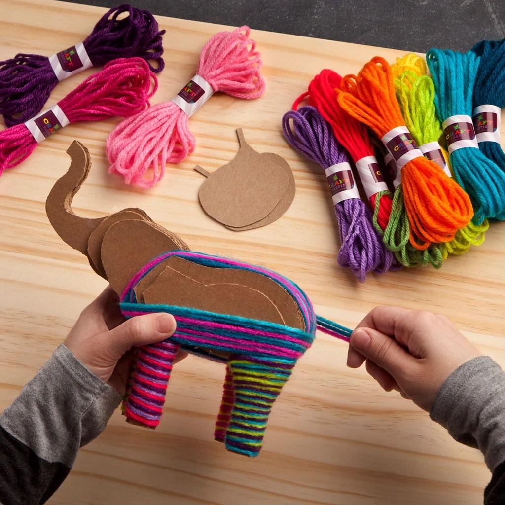 Craft Tastic Yarn Elephants Kit Ann Williams Group