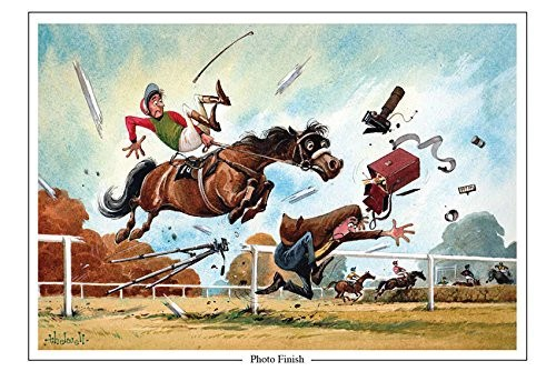 Horse Racing Greeting Card Photo Finish By Norman