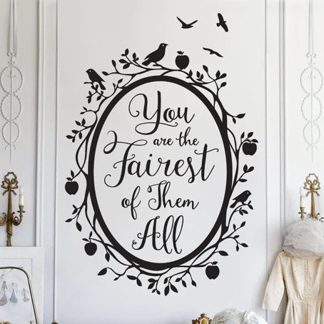 Fall Verse Wallpaper Snow White Fairest Of Them All Quote Decal Shop Dana Decals
