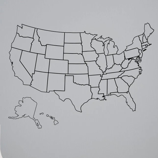 Printable map of the usa for all your geography activities. Outlined United States Map With Fill In State Packs Dana Decals