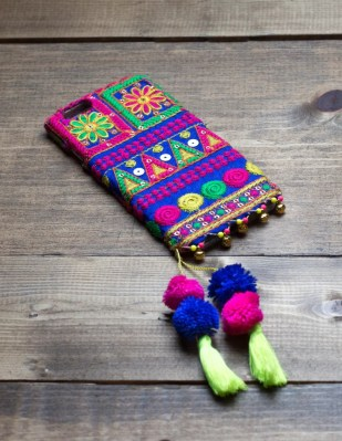 LAPIS - Embroidered Fabric iPhone Cover
