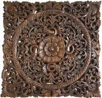 Oriental Hand Carved Wood Wall Plaques. Wall Sculptures ...