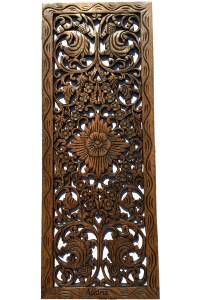 Asian Home Decor.Floral Wood Carved Wall Panel.Wall Art ...