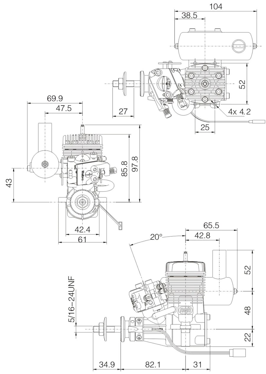 NGH GT17 17cc Two-Stroke Engine NGH-GT17