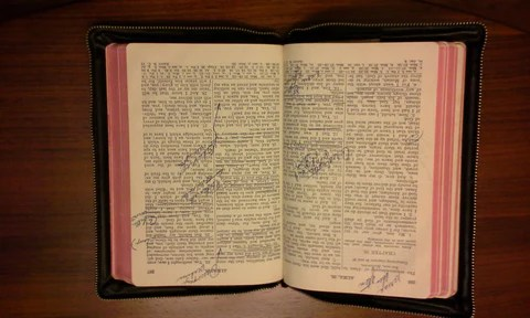 Ronald Cannon's scriptures with margin notes