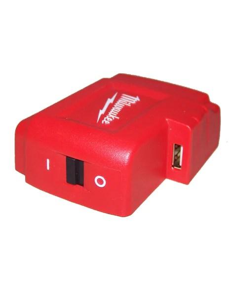 Milwaukee M18 18V LithiumIon USB Power Port for Mobile