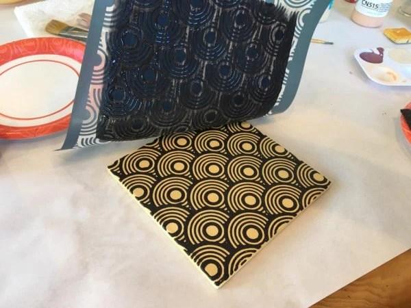 diy screen printed ceramic