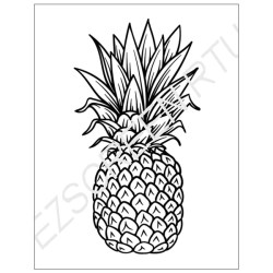 pineapple stencil fruit fruits stencils designer sizes ready use printing