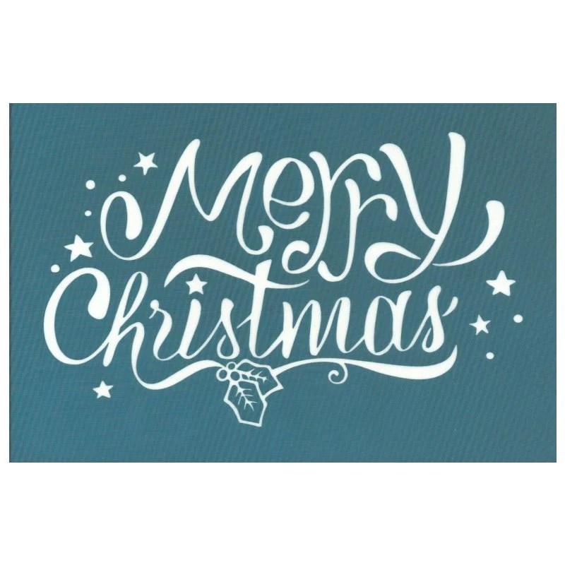 Diy Silk Screening Stencil Merry Christmas Script Font Design Ezscreenprint