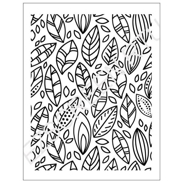 DIY Screen Printing Leaves Doodles Design Ceramic Polymer