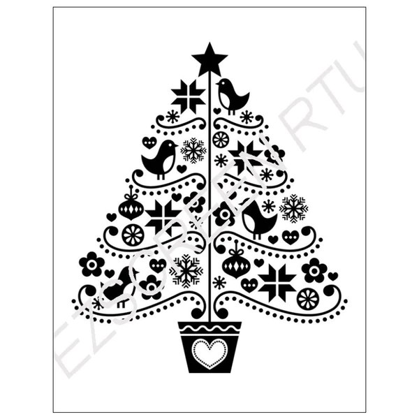 Stencil Christmas Medium Patterns