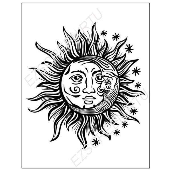 sun moon various sizes