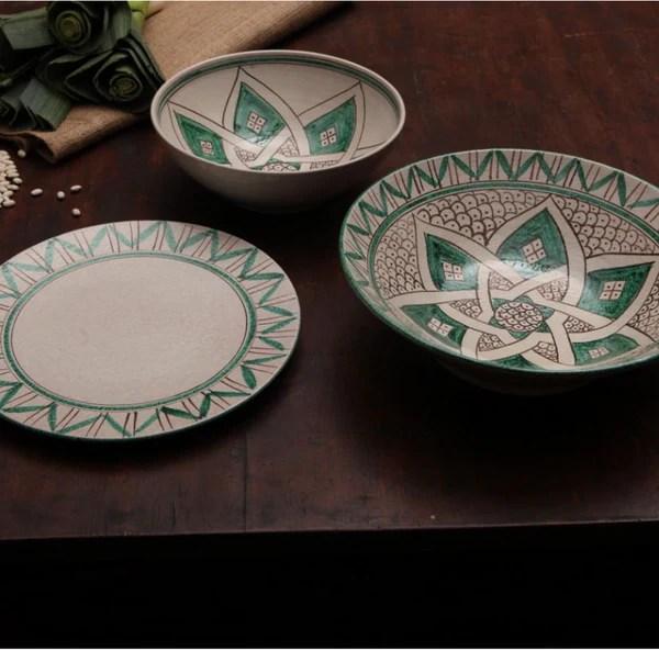 Italian Ceramic Serving Platter Stella