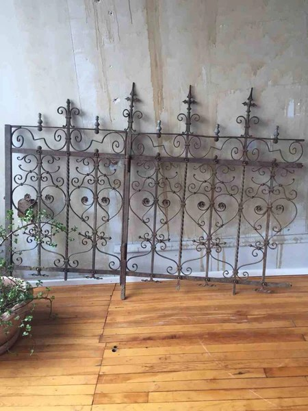 Antique Wrought Iron Gate and Fence Section from Italy