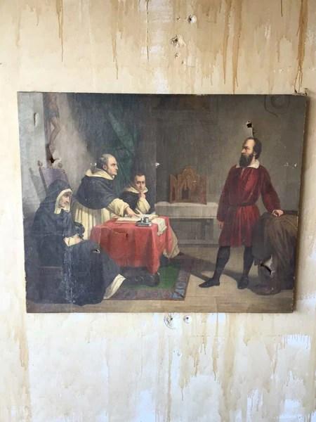 Painting of The Trial of Galileo Galilei