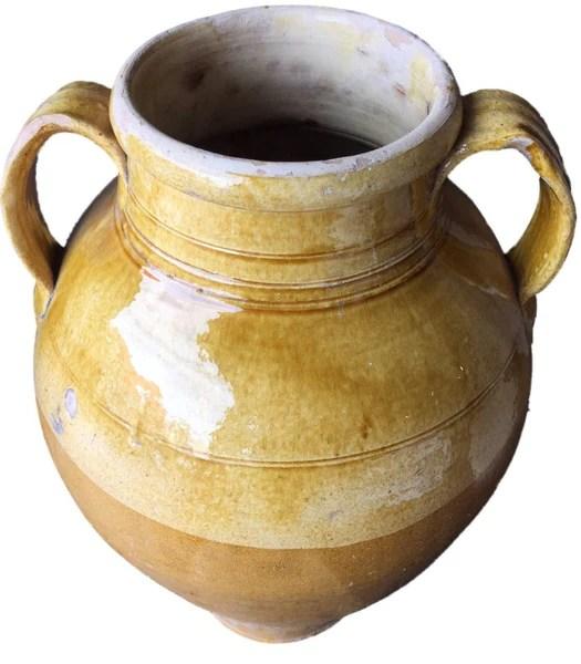 Antique Glazed Terracotta Jar 18