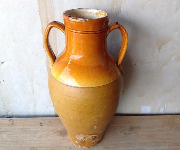 Two Arm Glazed Amphora Jar 23