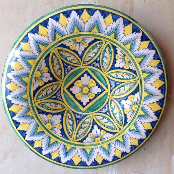 Italian Majolica Ceramic Wall Plate