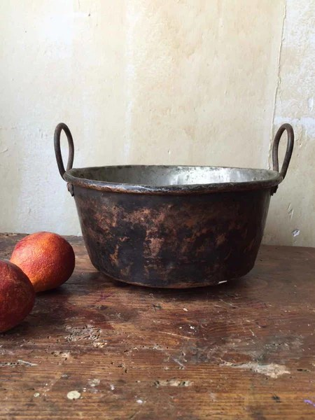 Small Italian Antique Copper Pot SOLD